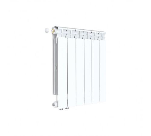 Биметаллический радиатор Rifar Alp Ventil 500 (6 секций, нижнее левое подключение)