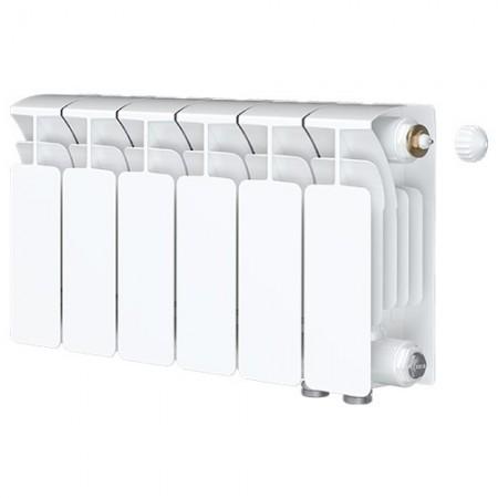 Биметаллический радиатор Rifar Base Ventil 200 (6 секций, нижнее правое подключение)