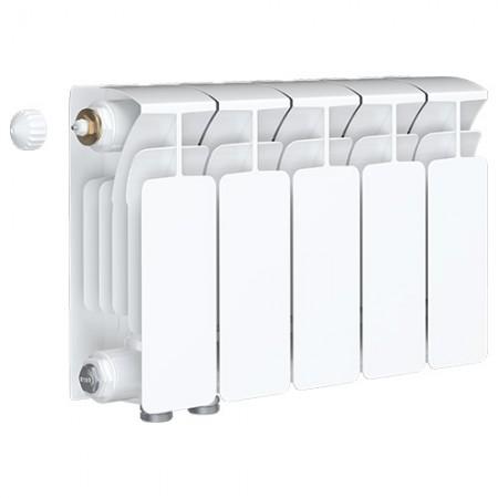 Биметаллический радиатор Rifar Base Ventil 350 (5 секций, нижнее левое подключение)