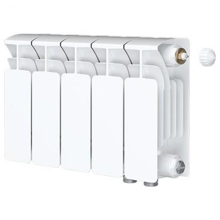 Биметаллический радиатор Rifar Base Ventil 500 (5 секций, нижнее правое подключение)