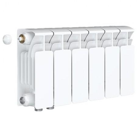 Биметаллический радиатор Rifar Base Ventil 500 (6 секций, нижнее левое подключение)