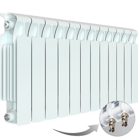 Биметаллический радиатор Rifar Monolit Ventil 350 (12 секций, нижнее правое подключение)