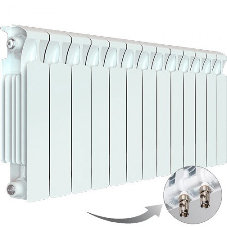 Биметаллический радиатор Rifar Monolit Ventil 350 (13 секций, нижнее правое подключение)