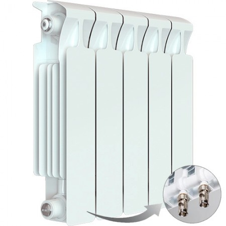 Биметаллический радиатор Rifar Monolit Ventil 350 (5 секций, нижнее левое подключение)
