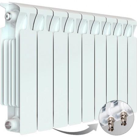Биметаллический радиатор Rifar Monolit Ventil 350 (9 секций, нижнее левое подключение)