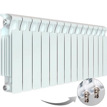 Биметаллический радиатор Rifar Monolit Ventil 500 (14 секций, нижнее левое подключение)