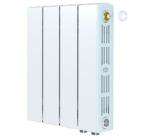 Биметаллический радиатор Rifar SUPReMO 350 Ventil (4 секции, нижнее правое подключение)