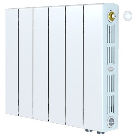 Биметаллический радиатор Rifar SUPReMO 350 Ventil (5 секций, нижнее правое подключение)