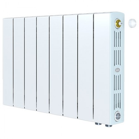 Биметаллический радиатор Rifar SUPReMO 350 Ventil (8 секций, нижнее правое подключение)