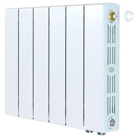 Биметаллический радиатор Rifar SUPReMO 500 Ventil (6 секций, нижнее правое подключение)