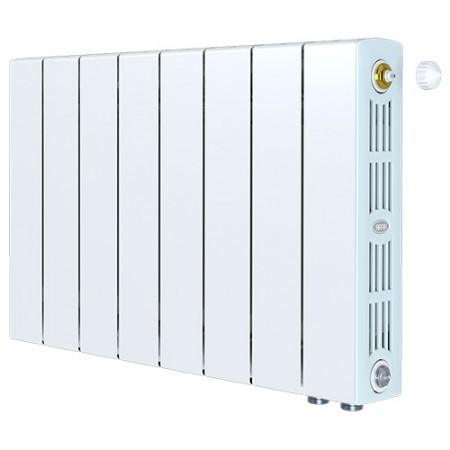 Биметаллический радиатор Rifar SUPReMO 500 Ventil (8 секций, нижнее правое подключение)