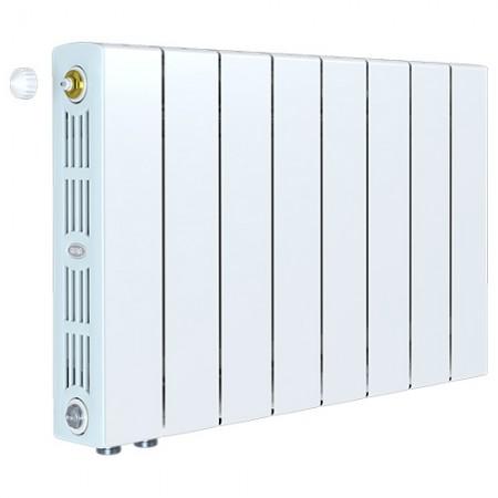 Биметаллический радиатор Rifar SUPReMO 500 Ventil (8 секций, нижнее левое подключение)