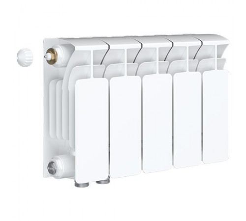 Биметаллический радиатор Rifar Base Ventil 200 (5 секций, нижнее левое подключение)