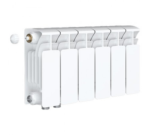 Биметаллический радиатор Rifar Base Ventil 200 (6 секций, нижнее левое подключение)