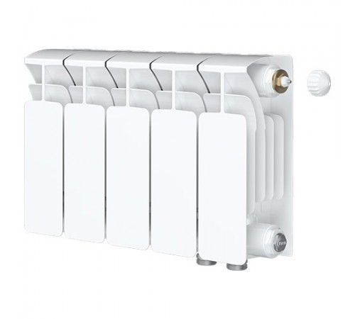 Биметаллический радиатор Rifar Base Ventil 350 (5 секций, нижнее правое подключение)