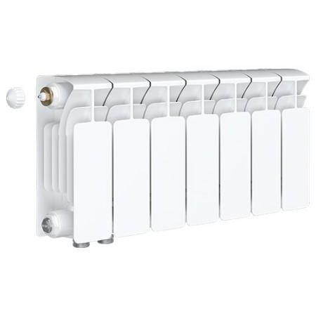 Биметаллический радиатор Rifar Base 350 Ventil (7 секций, нижнее левое подключение)