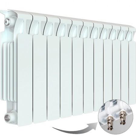 Биметаллический радиатор Rifar Monolit Ventil 350 (11 секций, нижнее левое подключение)
