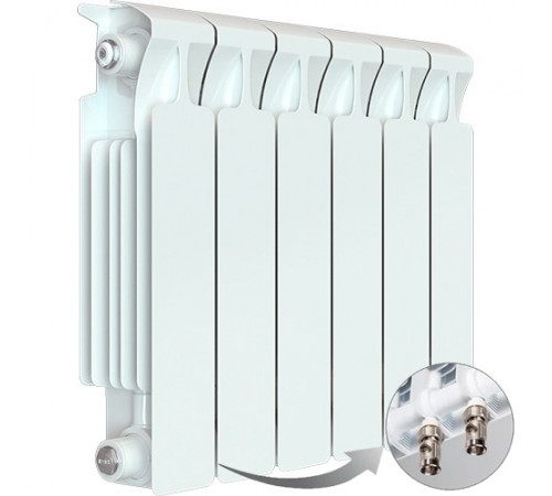 Биметаллический радиатор Rifar Monolit Ventil 350 (6 секций, нижнее правое подключение)