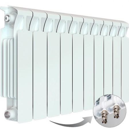 Биметаллический радиатор Rifar Monolit Ventil 500 (10 секций, нижнее левое подключение)