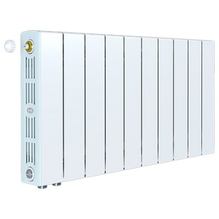 Биметаллический радиатор Rifar SUPReMO 500 Ventil (10 секций, нижнее левое подключение)