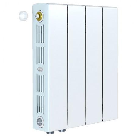 Биметаллический радиатор Rifar SUPReMO 500 Ventil (4 секции, нижнее левое подключение)