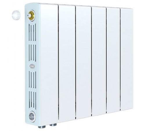 Биметаллический радиатор Rifar SUPReMO 500 Ventil (6 секций, нижнее левое подключение)
