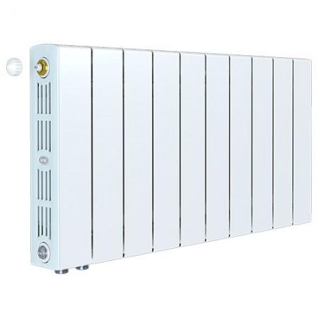 Биметаллический радиатор Rifar SUPReMO 500 Ventil (9 секций, нижнее левое подключение)